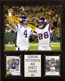 "NFL 12""x15"" Adrian Peterson-Brett Favre Minnesota Vikings Player Plaque"