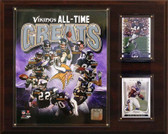 "NFL 12""x15"" Minnesota Vikings All -Time Great Photo Plaque"
