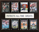 "NFL 12""x15"" New England Patriots All-Time Greats Plaque"