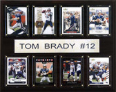 "NFL 12""x15"" Tom Brady New England Patriots 8 Card Plaque"