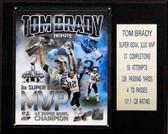 "NFL 12""x15"" Tom Brady New England Patriots Super Bowl XLIX MVP Plaque"