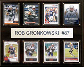 "NFL 12""x15"" Rob Gronkowski New England Patriots 8-Card Plaque"