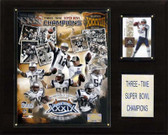 "NFL 12""x15"" New England Patriots 3-Time Super Bowl Champions Plaque"