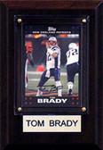 "NFL 4""x6"" Tom Brady New England Patriots Player Plaque"