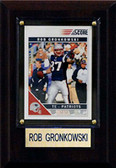 "NFL 4""x6"" Rob Gronkowski New England Patriots Player Plaque"