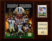 "NFL 12""x15"" Drew Brees New Orleans Saints Player Plaque"