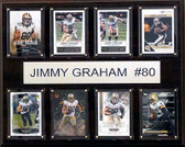 "NFL 12""x15"" Jimmy Graham New Orleans Saints 8-Card Plaque"