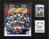 "NFL 12""x15"" New Orleans Saints Super Bowl XLIV Champions Plaque"