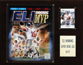 "NFL 12""x15"" Eli Manning Super Bowl XLII MVP New York Giants Player Plaque"