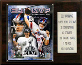 "NFL 12""x15"" Eli Manning Super Bowl XLVI MVP New York Giants Player Plaque"