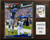 "NFL 12""x15"" Hakeem Nicks New York Giants Player Plaque"