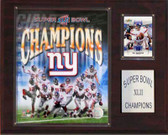 "NFL 12""x15"" New York Giants Super Bowl XLII Champions Plaque"