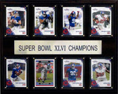 "NFL 12""x15"" New York Giants Super Bowl XLVI 8-Card Plaque"