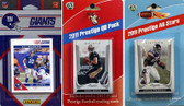 NFL New York Giants Licensed 2011 Score Team Set With Twelve Card 2011 Prestige All-Star and Quarterback Set