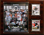 "NFL 12""x15"" Oakland Raiders 2012 Team Plaque"
