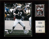 "NFL 12""x15"" Ken Stabler Oakland Raiders Player Plaque"