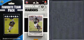 NFL Oakland Raiders Licensed 2013 Score Team Set and Favorite Player Trading Card Pack Plus Storage Album