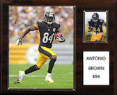 "NFL 12""x15"" Antonio Brown Pittsburgh Steelers Player Plaque"