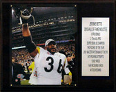 "NFL 12""x15"" Jerome Bettis Pittsburgh Steelers Career Stat Plaque"