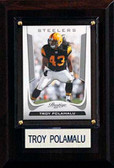 """NFL 4""""x6"""" Troy Polamalu Pittsburgh Steelers Player Plaque"""