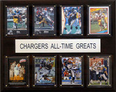 "NFL 12""x15"" San Diego Chargers All-Time Greats Plaque"