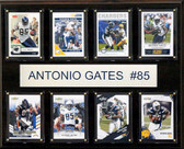 "NFL 12""x15"" Antonio Gates San Diego Chargers 8-Card Plaque"