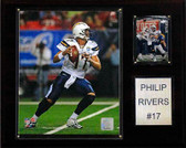 "NFL 12""x15"" Philip Rivers San Diego Chargers Player Plaque"