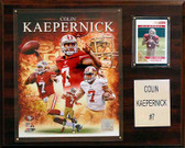 "NFL 12""x15"" Colin Kaepernick San Francisco 49ers Player Plaque"