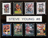 "NFL 12""x15"" Steve Young San Francisco 49ers 8-Card Plaque"