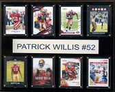 "NFL 12""x15"" Patrick Willis San Francisco 49ers 8-Card Plaque"