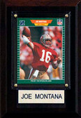 "NFL 4""x6"" Joe Montana San Francisco 49ers Player Plaque"