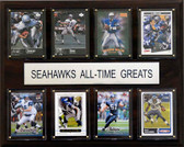 "NFL 12""x15"" Seattle Seahawks All-Time Greats Plaque"