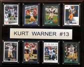 "NFL 12""x15"" Kurt Warner St. Louis Rams 8-Card Plaque"