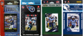 NFL Tennessee Titans 4 Different Licensed Trading Card Team Sets