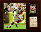 "NFL 12""x15"" London Fletcher Washington Redskins Player Plaque"