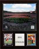 """NFL 12""""x15"""" RFK Stadium Stadium Plaque"""