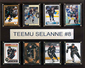 "NHL 12""x15"" Teemu Selanne Anaheim Ducks 8-Card Plaque"