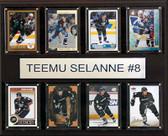 """NHL 12""""x15"""" Teemu Selanne Anaheim Ducks 8-Card Plaque"""
