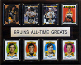 "NHL 12""x15"" Boston Bruins All-Time Greats Plaque"