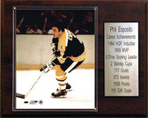 "NHL 12""x15"" Phil Esposito Boston Bruins Career Stat Plaque"