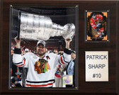 "NHL 12""x15"" Patrick Sharp Chicago Blackhawks Player Plaque"