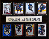 "NHL 12""x15"" Colorado Avalanche All-Time Greats Plaque"