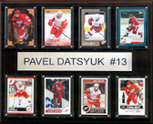 "NHL 12""x15"" Pavel Datsyuk Detroit Red Wings 8-Card Plaque"