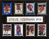 "NHL 12""x15"" Steve Yzerman Detroit Red Wings 8 Card Plaque"
