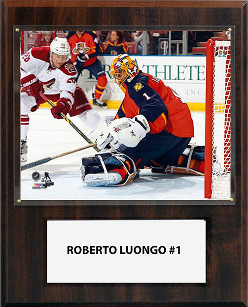 Nhl 12 X15 Roberto Luongo Florida Panthers Player Plaque C And I