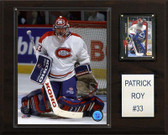 "NHL 12""x15"" Patrick Roy Montreal Canadiens Player Plaque"
