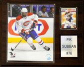 "NHL 12""x15"" P. K. Subban Montreal Canadiens Player Plaque"