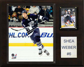 "NHL 12""x15"" Shea Weber Nashville Predators Player Plaque"