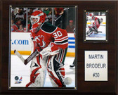 "NHL 12""x15"" Martin Brodeur New Jersey Devils Player Plaque"