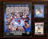 "NHL 12""x15"" New York Rangers All-Time Great Photo Plaque"